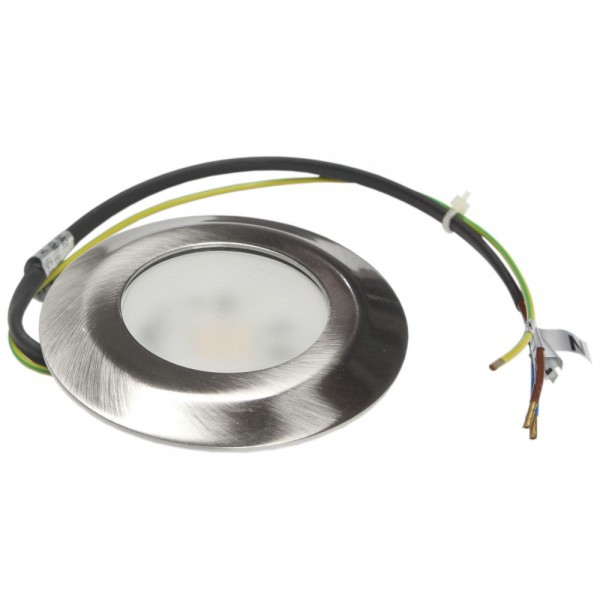 Rutec - LED54205WW - LED-Möbeleinbaustrahler LARA eisen gebürstet