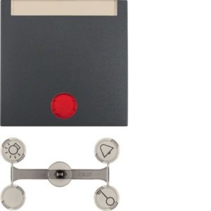 Berker - 16281606 - Kontroll-Wippe mit Beschriftungsfeld S.1/B.3/B.7