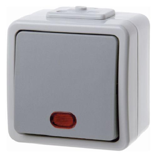 Berker - 307625 - Wippschalter mit Beleuchtung Aquatec