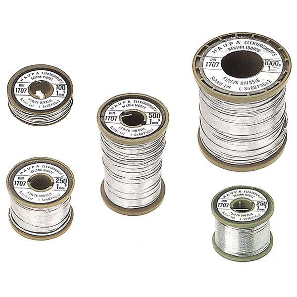 Haupa - 160020 - Elektroniklot Sn 60% 1 mm 100g
