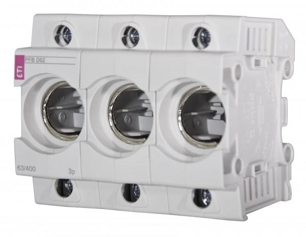 ETI - 002510023 - Kunststoff-Sicherungssockel NEOZED D02 3-polig