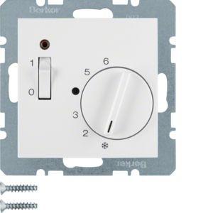 Berker - 20301909 - Temperaturregler mit Wippschalter S.1/B.3/B.7