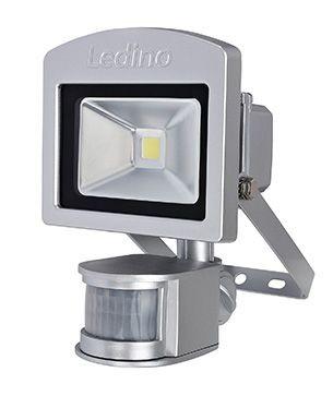 Ledino - 11120103002011 - LED-Strahler Dahlem mit Sensor 10W silber