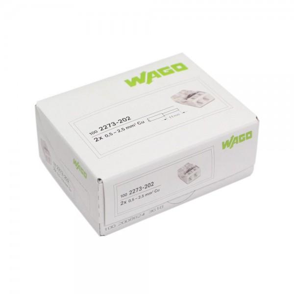 Wago - 2273-202_VPE - 100x 2-Leiter-Verbindungsdosenklemme 2,5mm²