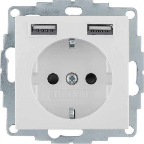 Berker - 48038982 - Steckdose mit USB-Ladebuchsen S.1