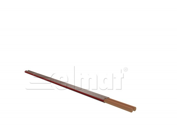 Elmat - 6560002-009 - 50m Lautsprecherkabel 2x1,5mm²/0,20 transparent