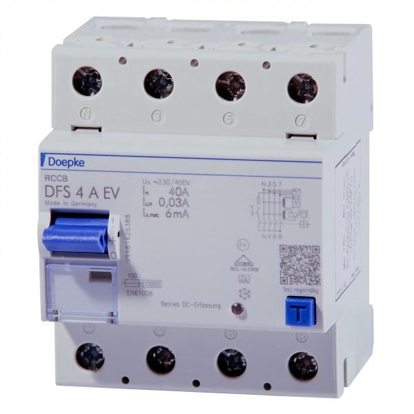 Doepke - 09134818 - Fehlerstromschutzschalter DFS4 040-4/0,03-A EV