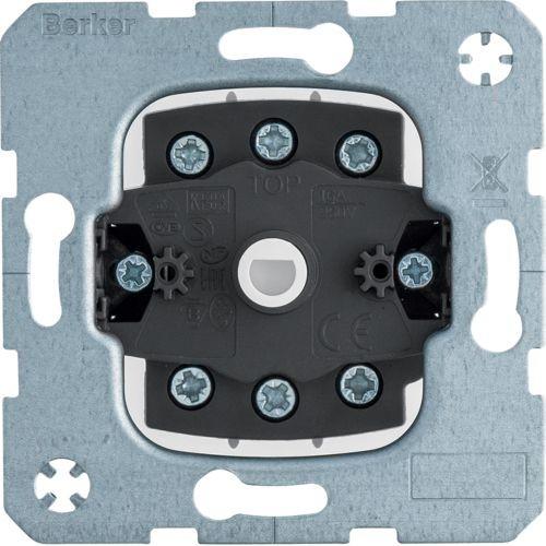 Berker - 385203 - Jalousie-Schalter 2-polig für Zentralstück mit Schloss