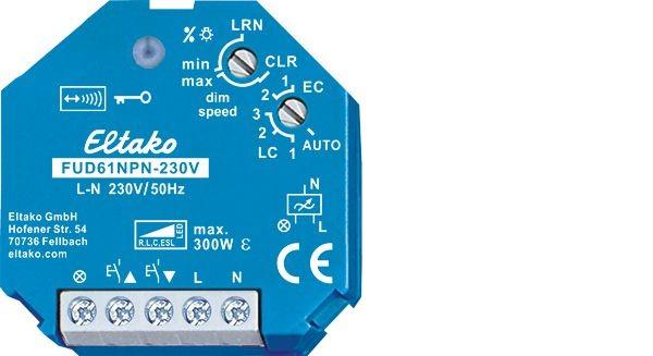Eltako - 30100835 - Funk-Universal-Dimmschalter FUD61NPN-230V