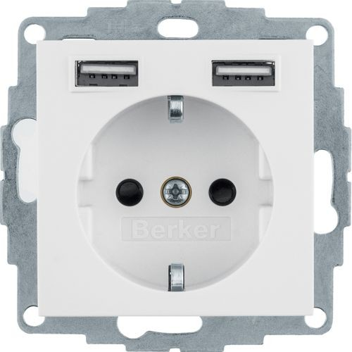 Berker - 48038989 - Steckdose mit USB-Ladebuchsen S.1