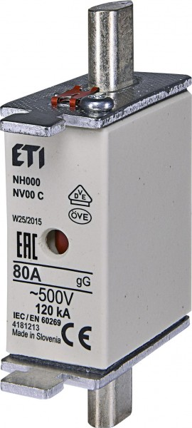 ETI - 004181213 - Schmelzsicherung NH00C 80A