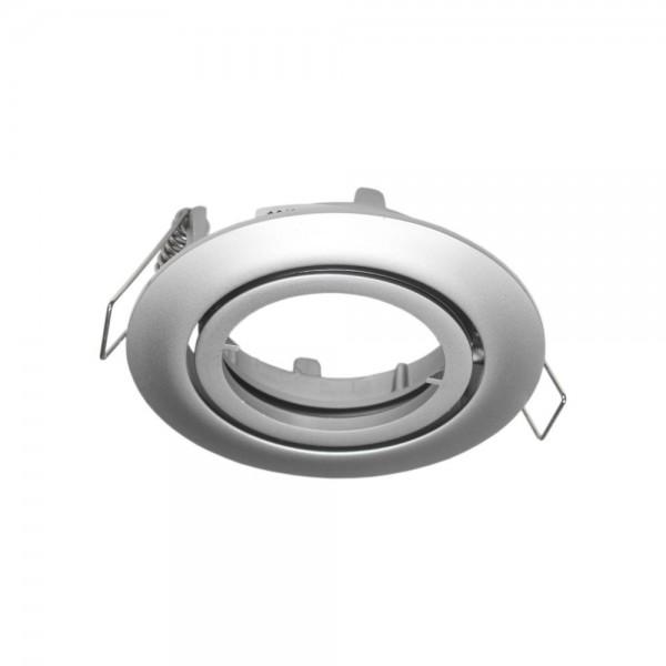Rutec - ALU55379 - Einbaustrahler für MR16-Leuchtmittel chrom matt