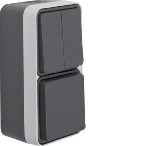 Berker - 47903515 - Serienschalter/Steckdosen-Kombination W.1