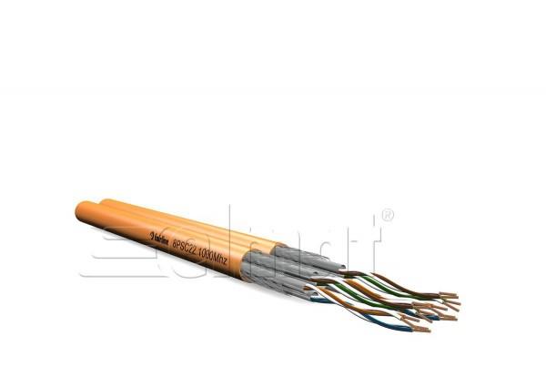 Elmat - 11384022orange-002 - 100m Datenleitung Duplex