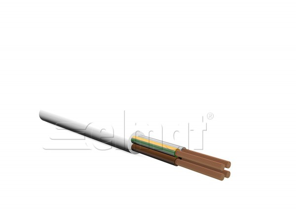 Elmat - 1042040-002 - 100m H05VV-F 3x2,5mm² weiß