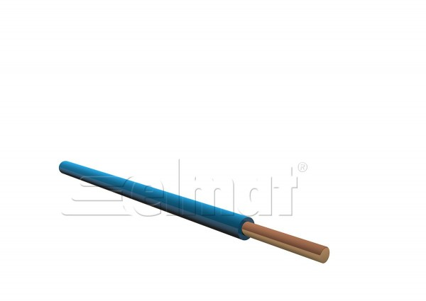 Elmat - 1046200-104 - 100m H07V-U 1x2,5mm² blau