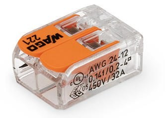 Wago - 221-412 - 2-Leiter-Verbindungsdosenklemme 4mm²