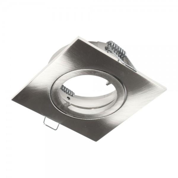 Rutec - ALU55475 - Einbaustrahler für MR16-Leuchtmittel eisen gebürstet
