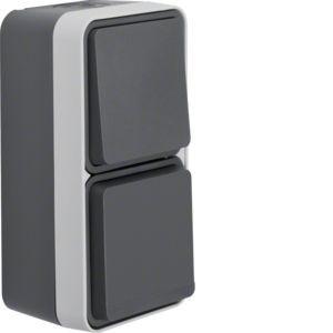 Berker - 47803515 - Wechselschalter/Steckdosen-Kombination W.1