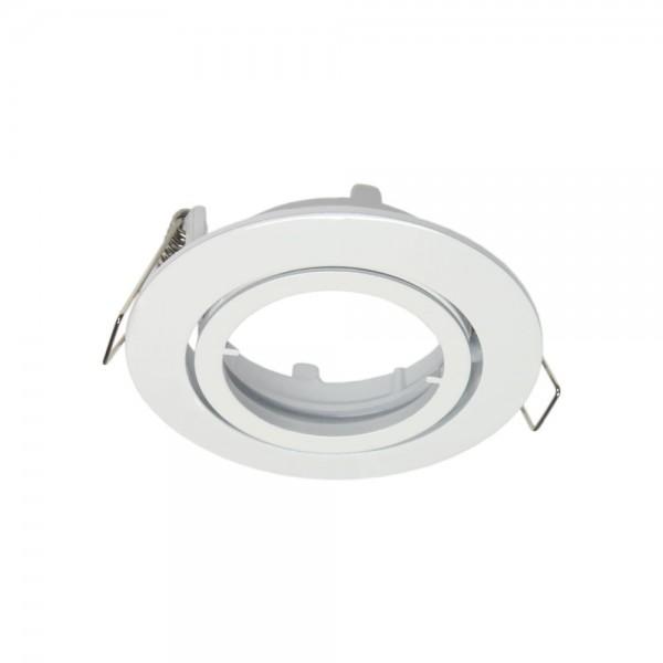 Rutec - ALU55371 - Einbaustrahler für MR16-Leuchtmittel weiß