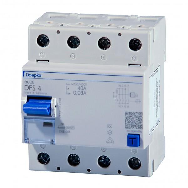 Doepke - 09134901 - Fehlerstromschutzschalter DFS4 040-4/0,03-A