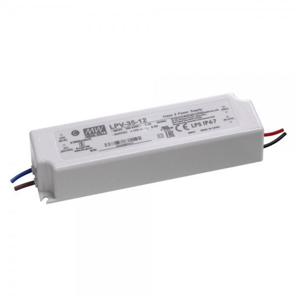 Meanwell - LPV-35-12 - LED-Netzgerät 12V 36W