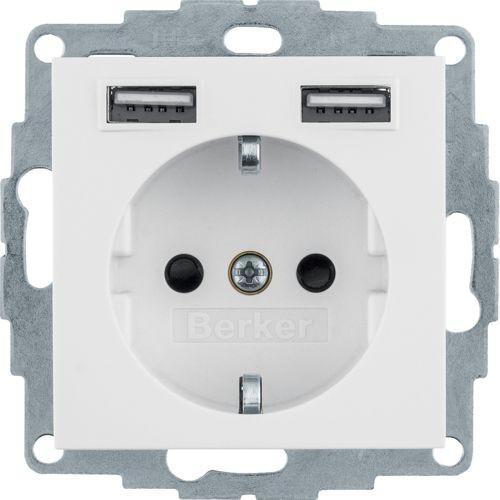 Berker - 48036089 - Steckdose SCHUKO/USB Q.1/Q.3