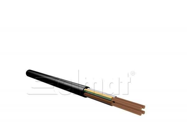 Elmat - 1041112-001 - 50m H03VV-F 3x0,75mm² schwarz