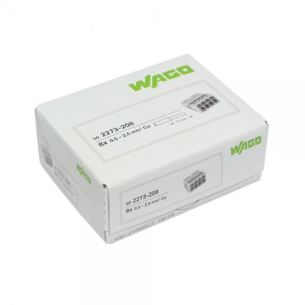 Wago - 2273-208_VPE - 50x 8-Leiter-Verbindungsdosenklemme 2,5mm²