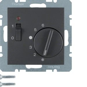 Berker - 20301606 - Temperaturregler mit Wippschalter S.1/B.3/B.7