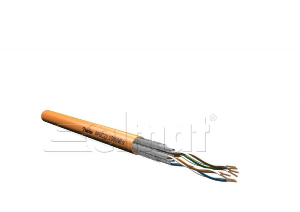 Elmat - 11384020orange-002 - 100m Datenleitung Single