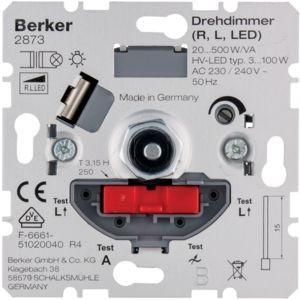 Berker - 2873 - Drehdimmer Drehdimmer mit Softrastung