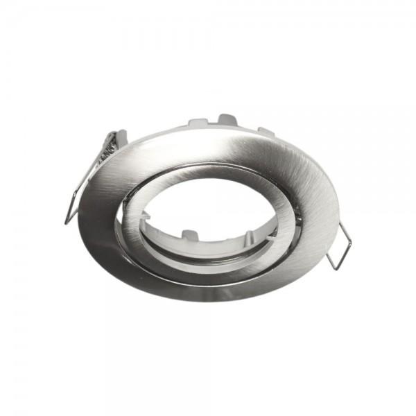 Rutec - ALU55375 - Einbaustrahler für MR16-Leuchtmittel eisen gebürstet