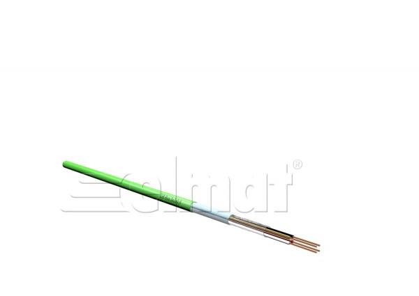 Elmat - 5142001-002 - 100m EIB-Buskabel 2x2x0,8 grün