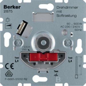 Berker - 2875 - Drehdimmer Drehdimmer mit Softrastung